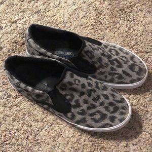 Cheetah Print Slip On Sneakers Polo Size 9M